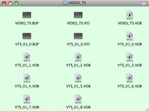 what is VIDEO_TS file
