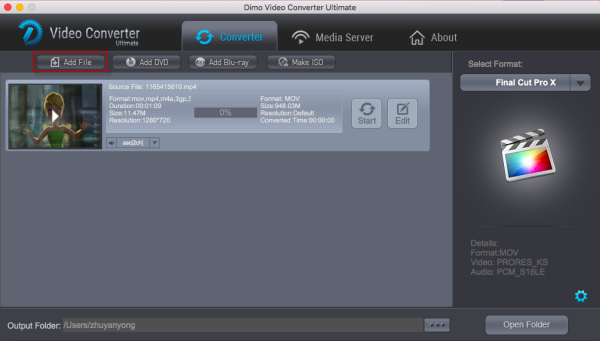 MP4 to FCP converter