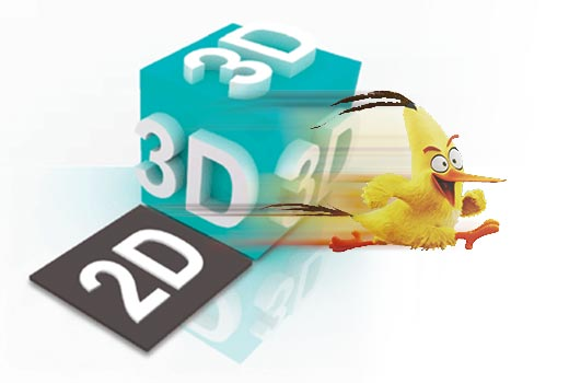 Add 3D effects to 2D video
